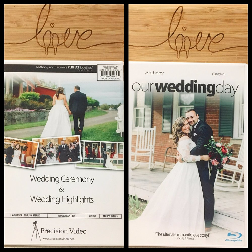 Custom Blu-ray Case - Each Blu-ray case is custom designed for your special day!