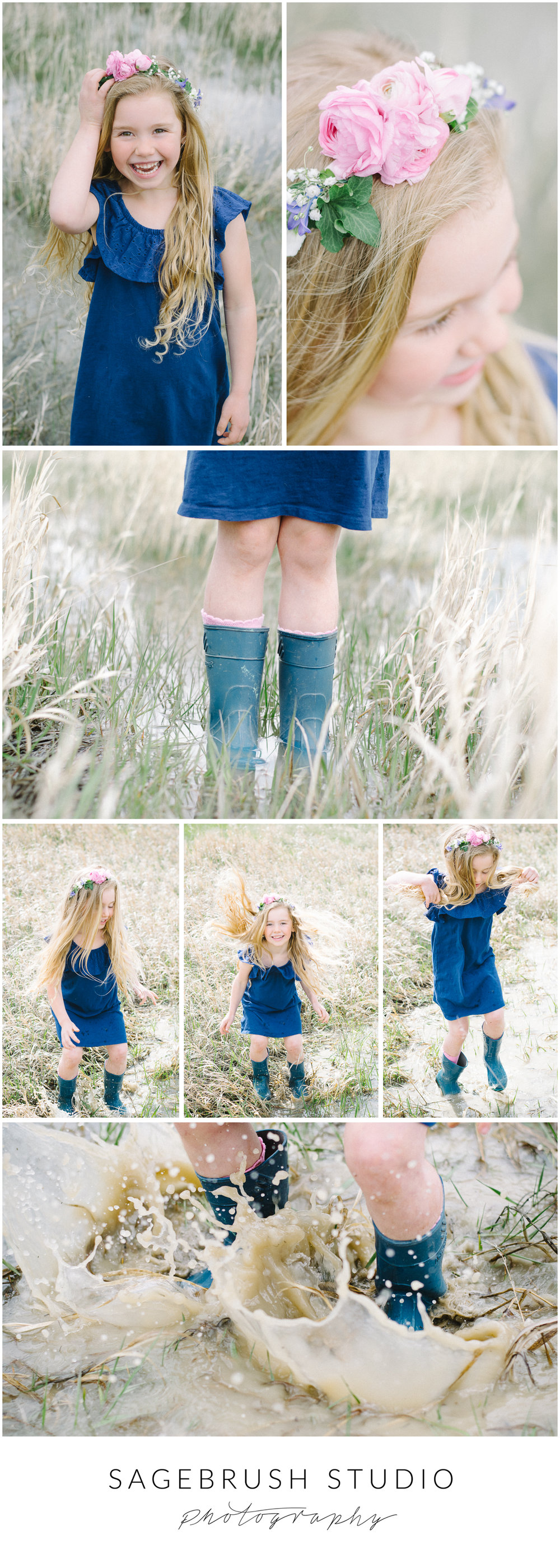 Puddle Princess Sagebrush Studio Photography. Shelby, Montana