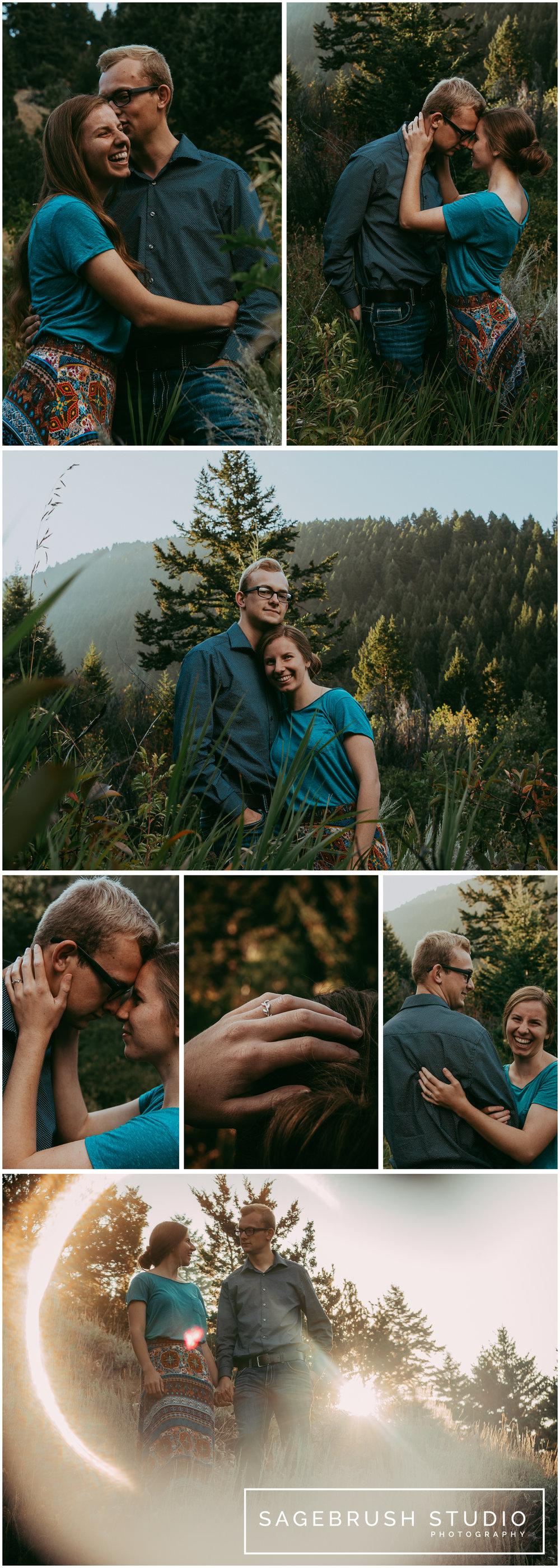 Tim & Marissa Engagement Session. Sagebrush Studio Photography, Montana.