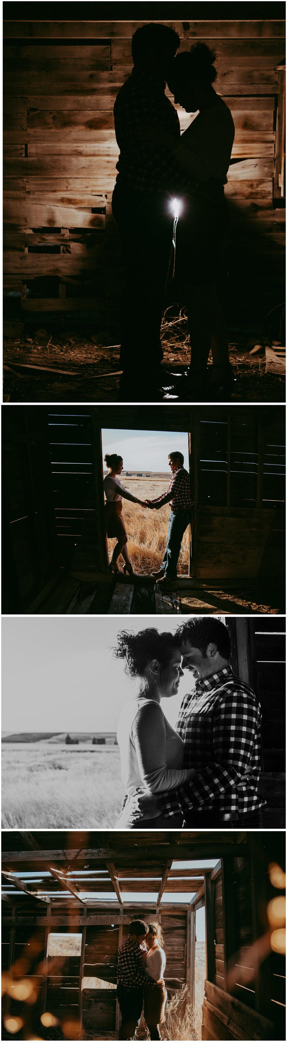 Country Engagement. Sagebrush Studio Photography, Shelby Montana
