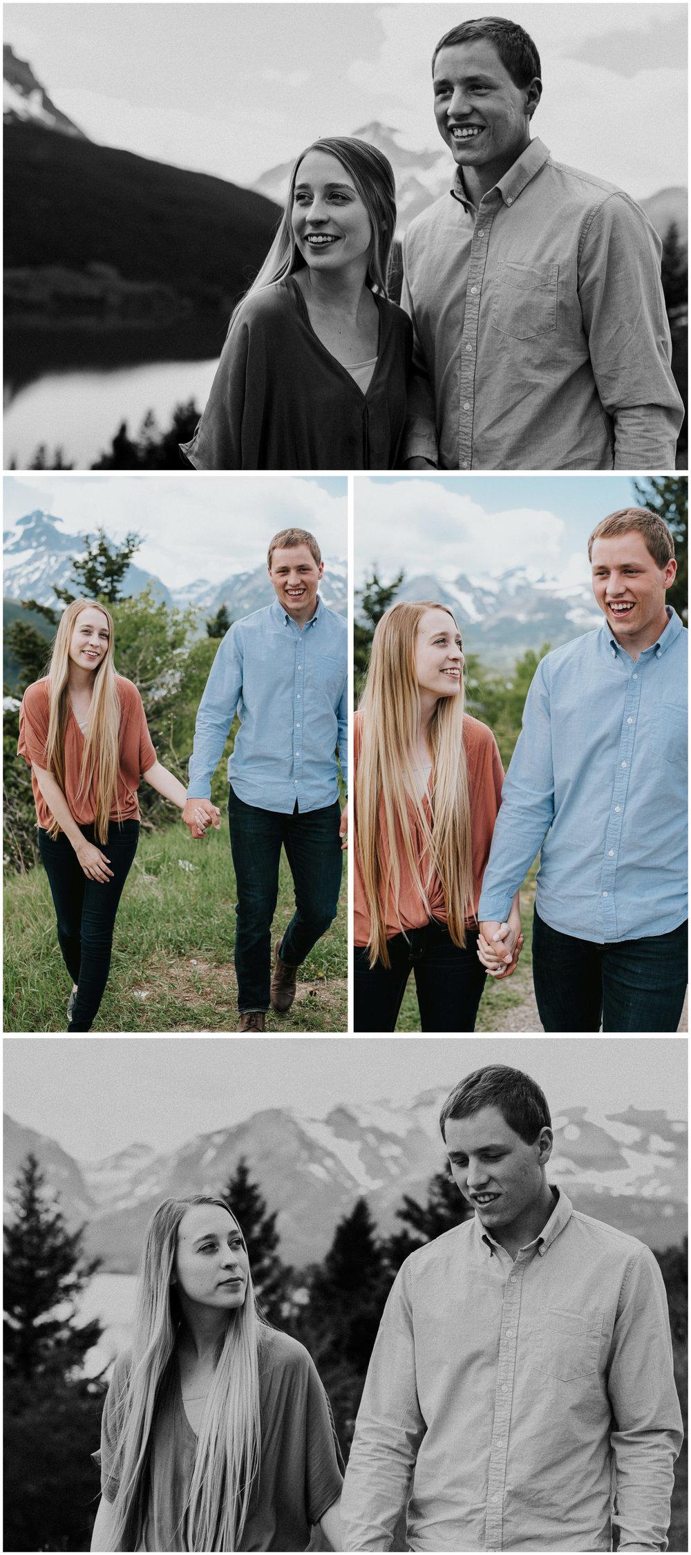 Glacier National Park Engagement. Sagebrush Studio Photography. Shelby, Montana