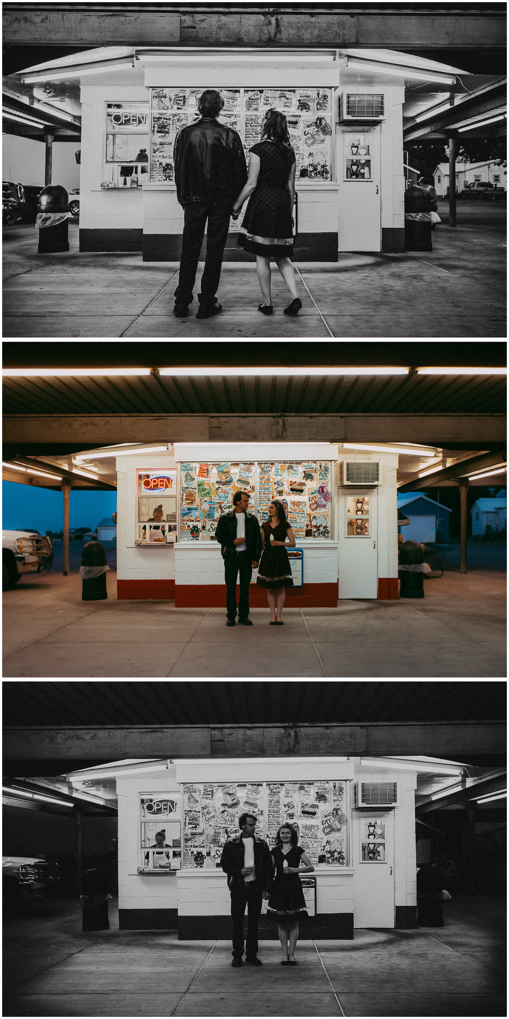 50s Engagement Session. Sagebrush Studio Photography, Shelby Montana.