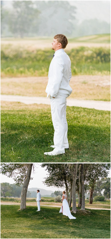 The groom, Smokey Montana Wedding