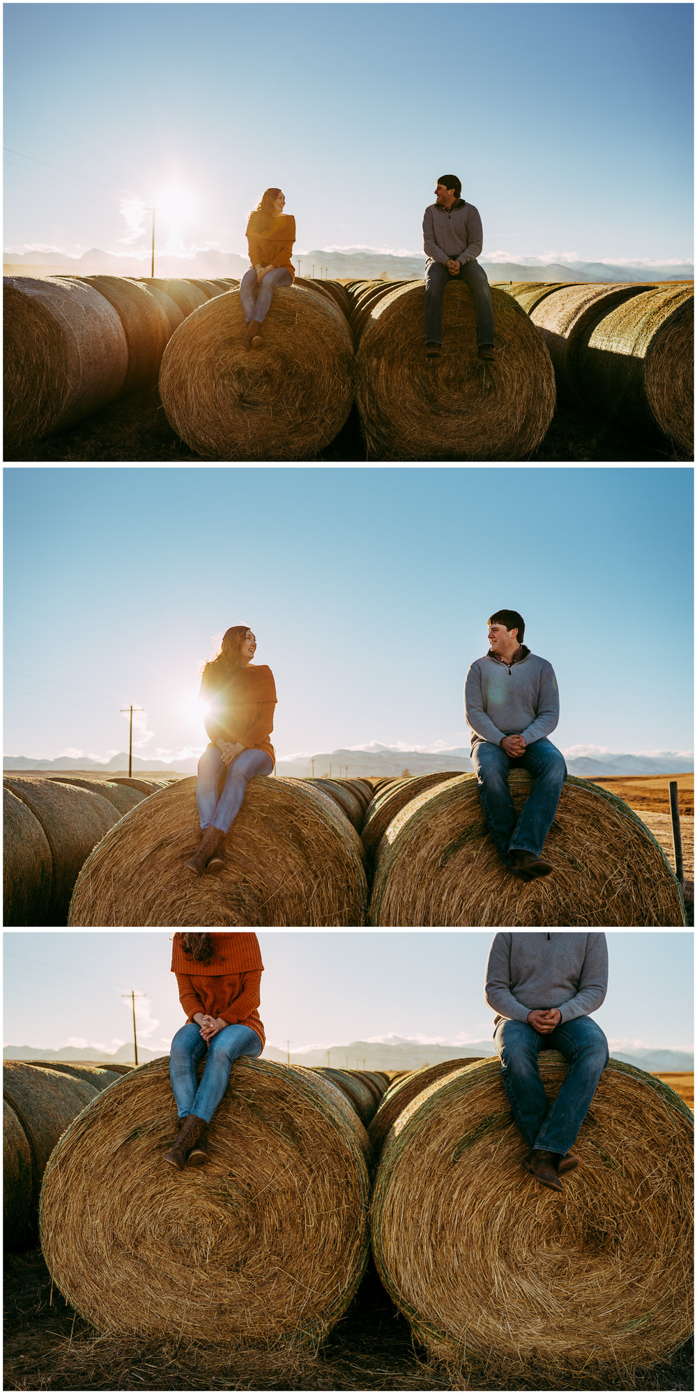 Middle of Nowhere Engagement Session. Clint + Malia Valier Montana Engagment