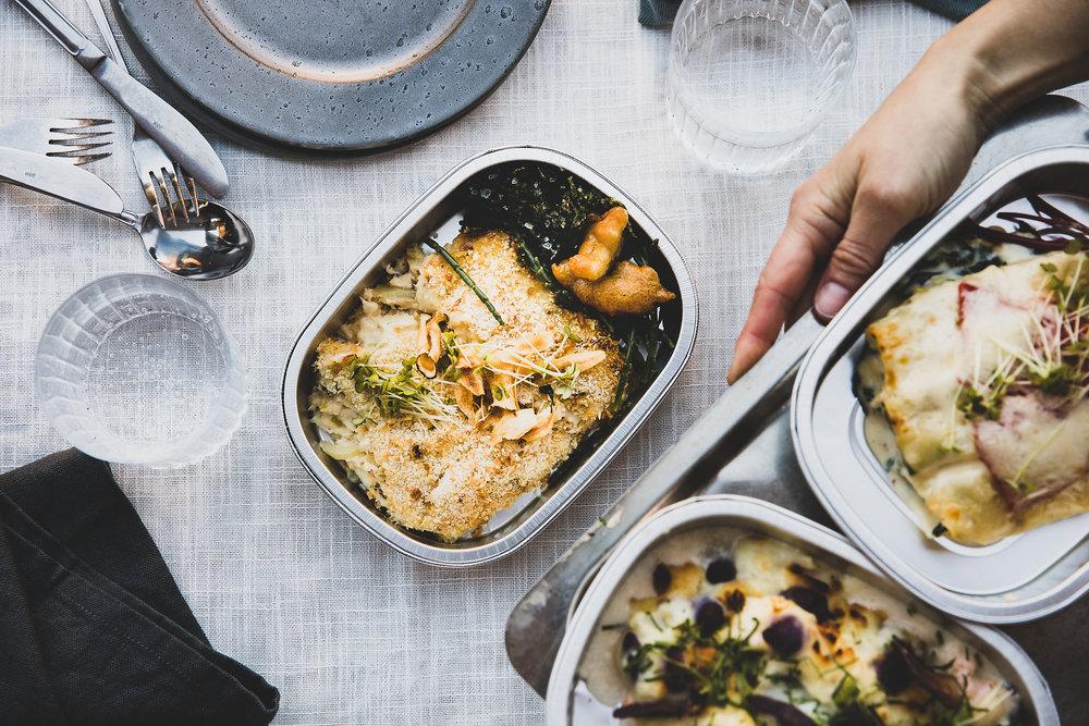 Fiskegrateng - Klassisk fiskegrateng uten makaroni. Masse fisk i hvit saus, med purre og fennikel.98 kr/per pers