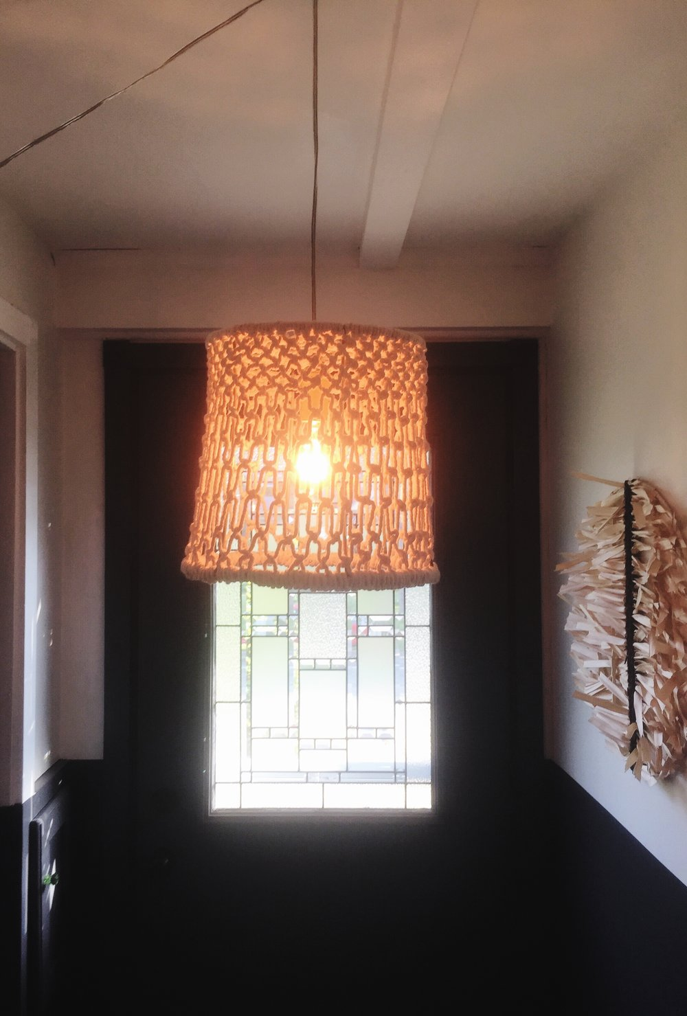 Upcycled Macrame Light Fixture