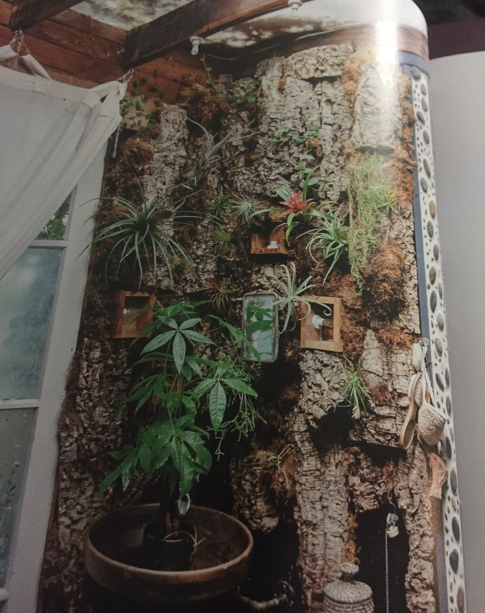 Epic Plant Wall in a Bathroom. Photo from The New Bohemians: Cool and Collected Homes.