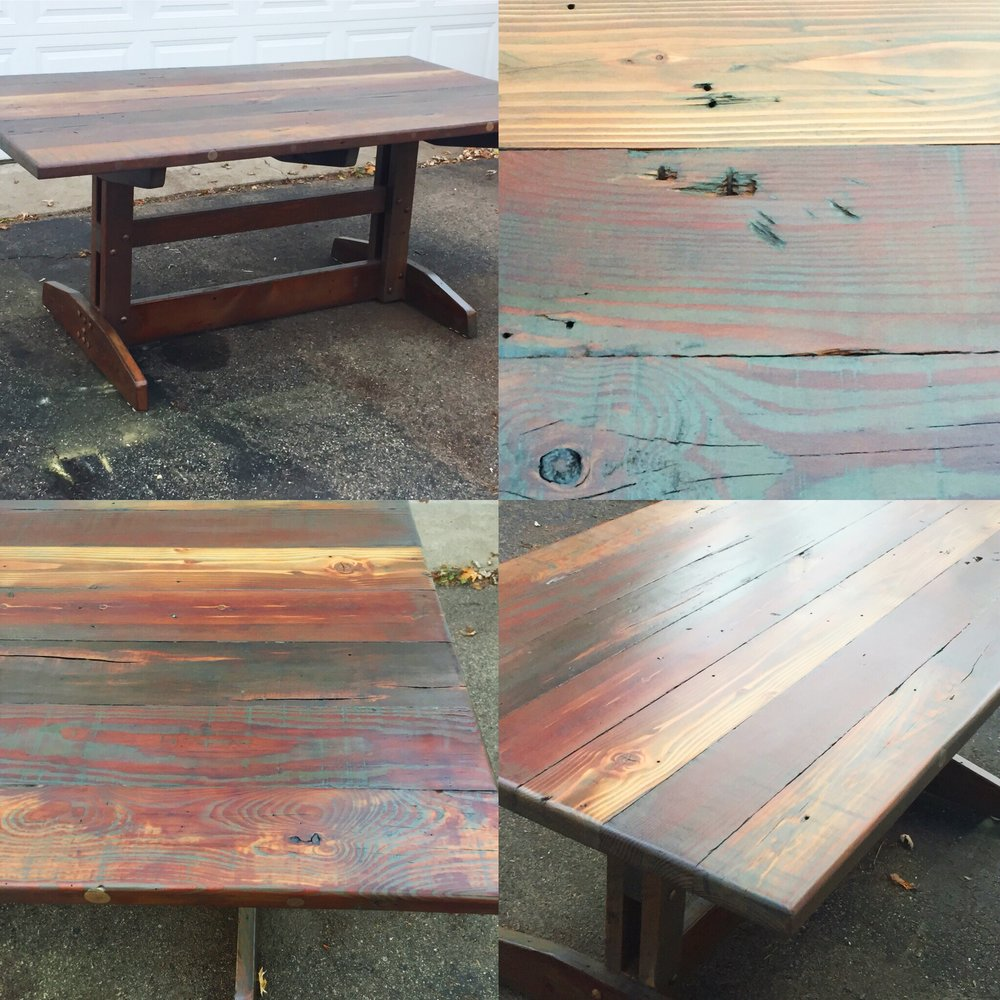 Make It Your Family Farmhouse, Upcycled Trestle Table