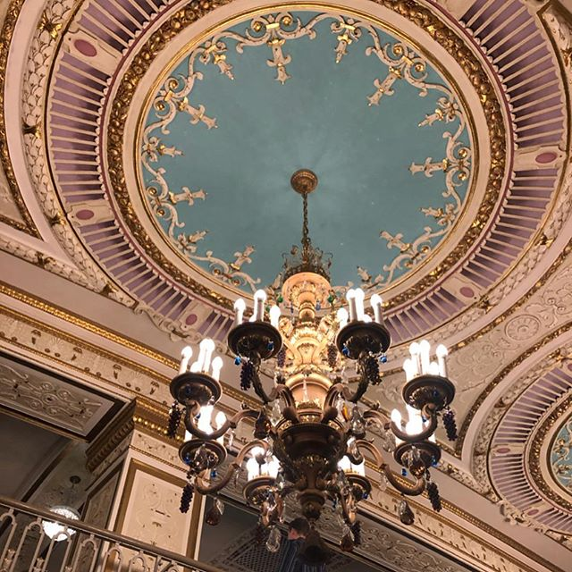 """#Tbt to seeing Mariah Carey at the epically gorgeous State Theatre last week. I LIVE for old chandeliers, costume changes and """"We Belong Together."""" 👑✨💃🏼 #thevintagemodernhome #chandeliers #mariahcarey . . . #webelongtogether #dreamlover #chandelier #vintagestyle #vintagelove #vintagemodern #vintagehome #vintagehomedecor #minneapolis #minnesota"""