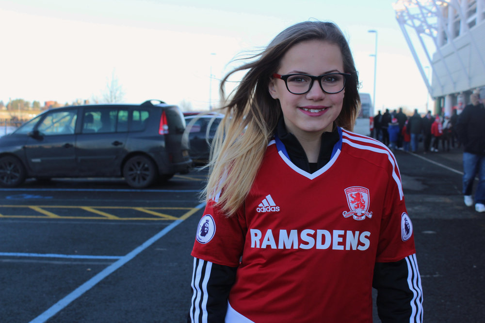 Image result for Middlesbrough fc female supporters