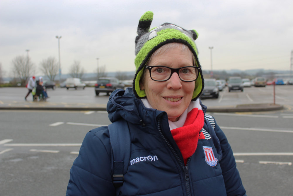 Stoke City Female Football Fan