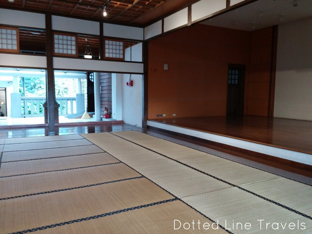 Tatami lobby at the Beitou Hot Springs Museum