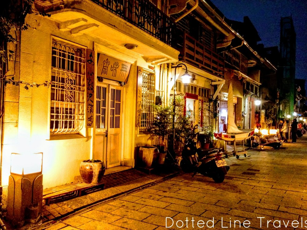 A beautiful street in Tainan, Taiwan