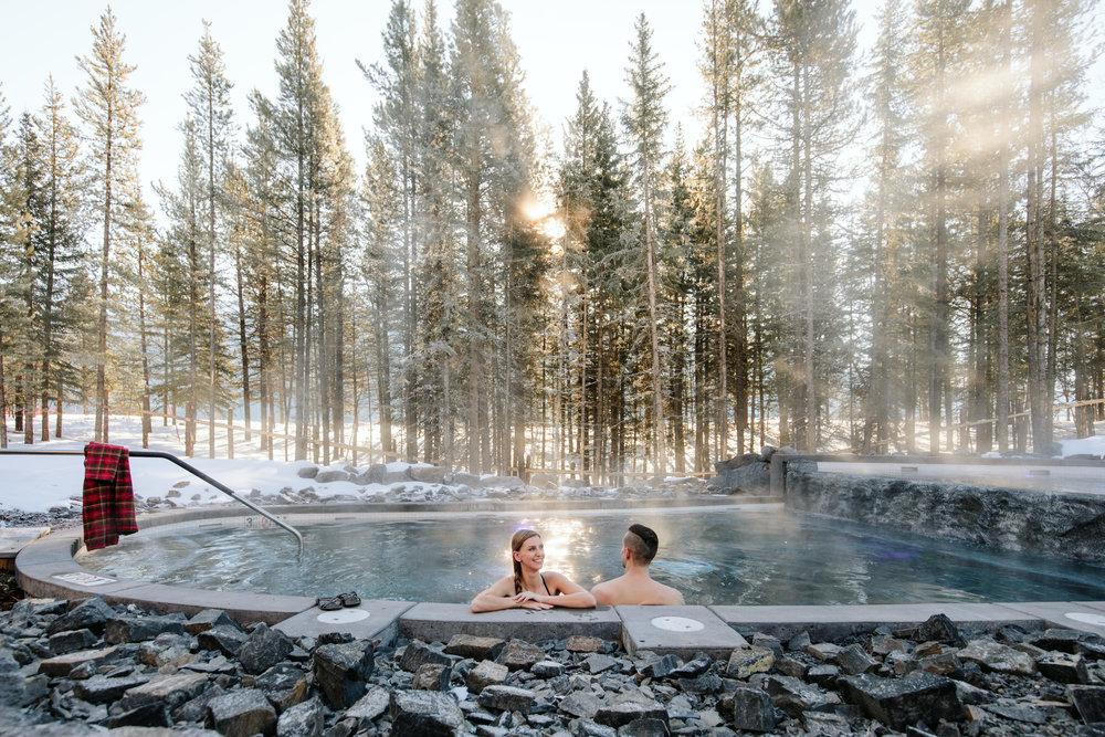 Photo credit: Mike Seehagel, Travel Alberta, Kananaskis Nordic Spa. Used with permission.