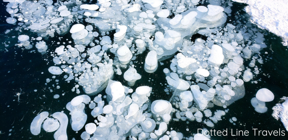 Abraham Lake Frozen Bubbles