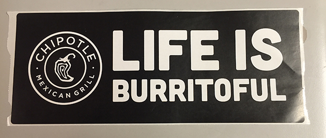 Bumper sticker. Righteous.
