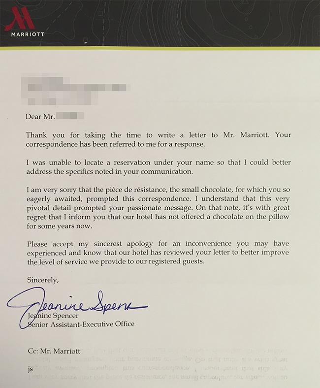 regret letter hotel reservation