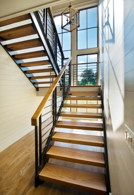 Luxury Country Farmhouse Staircase