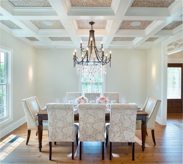 Modern Custom Home-dining room, White Dining Room, Custom Tile.jpg