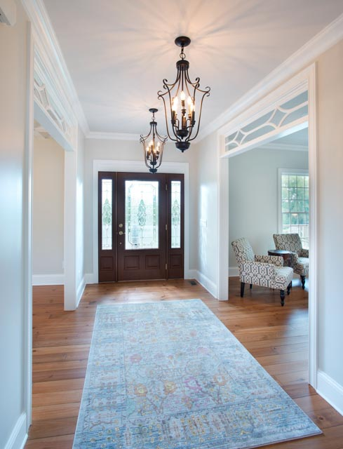 Modern Custom Home-Foyer, White Details, Modern Country Style.jpg