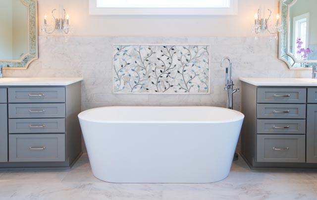 Modern Custom Home-Master Bathroom, Marble, Tile, White 2.jpg