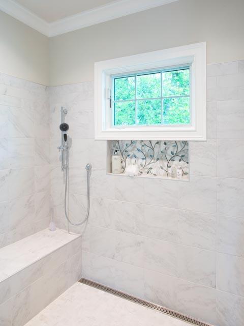 Modern Custom Home-Master Bathroom, Marble, Tile, White.jpg