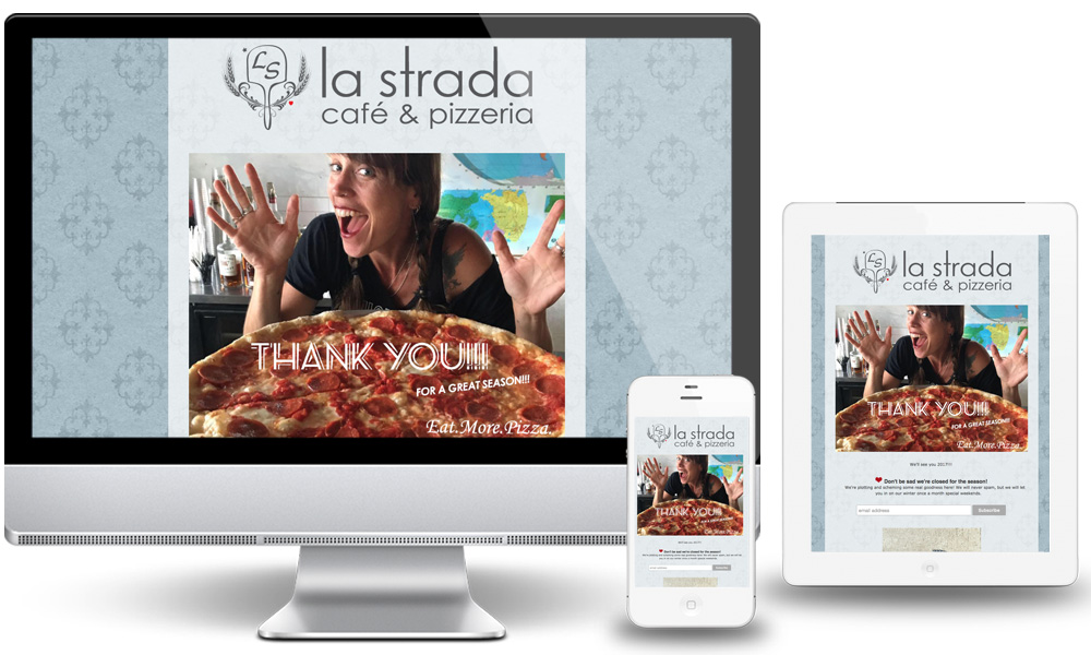 La Strada Cafe & Pizzeria Web Site