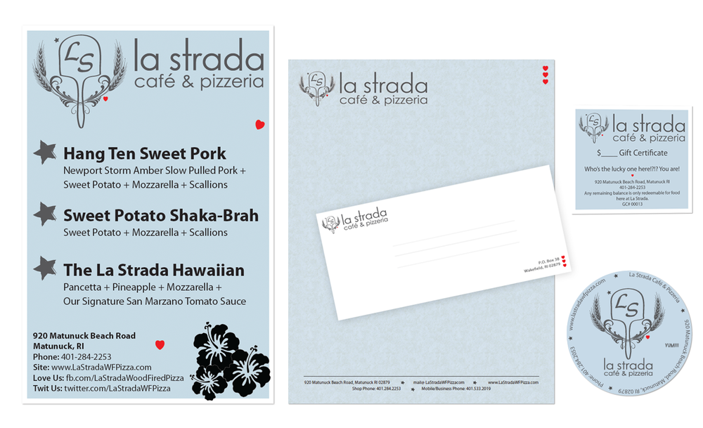 PRINT: Signs, Letterhead, Envelopes, Gift Certificate, Stickers etc