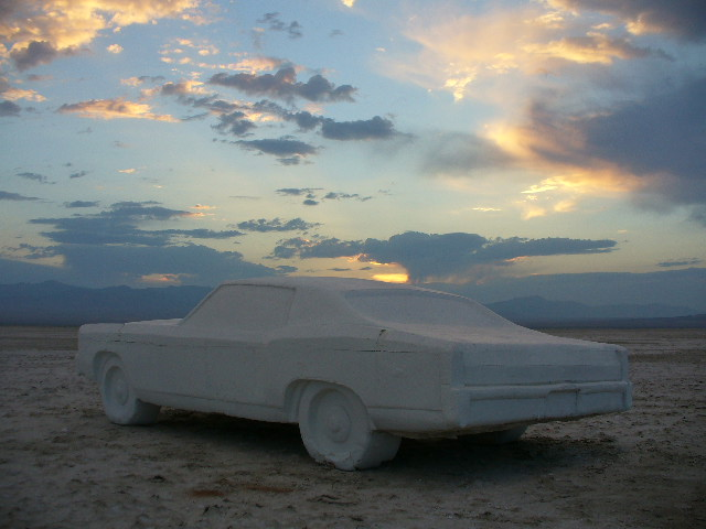 Recreational Vehicle   Chris Vorhees  Life size carving of 1970 Monte Carlo SS out of styrofoam. This piece was installed in many events, sites and locations across the U.S.