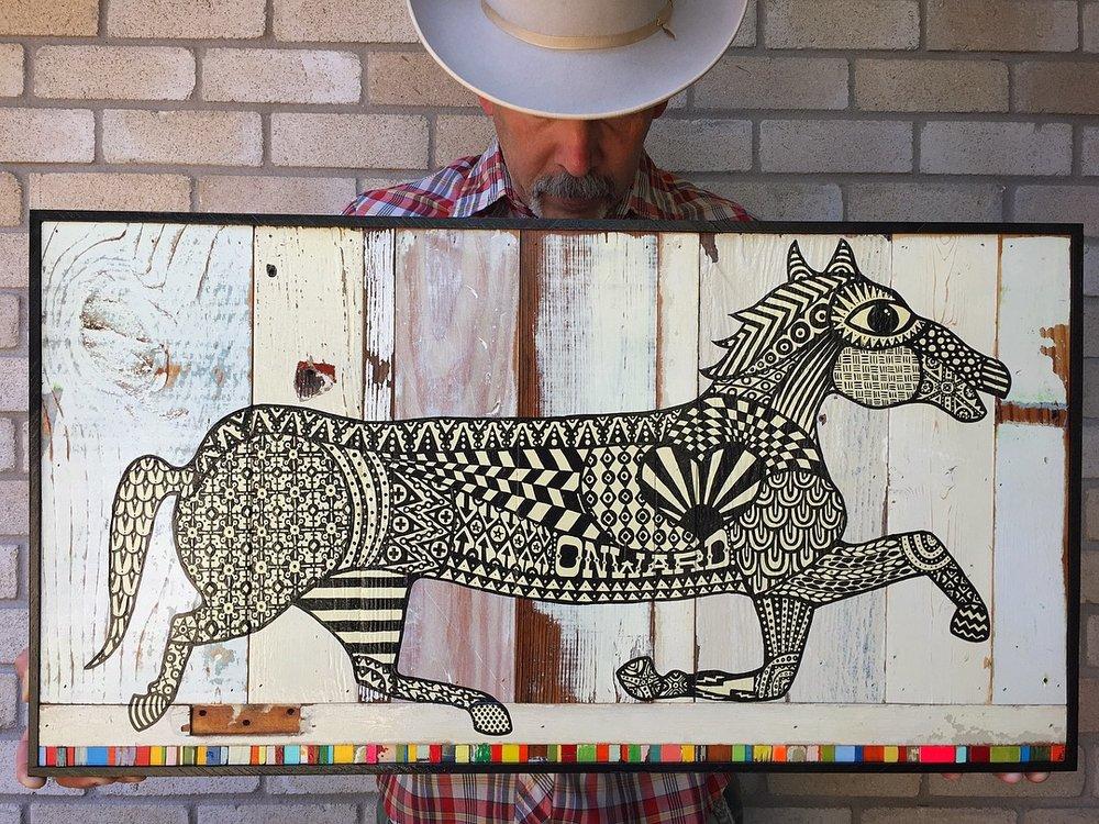 Mustang On Peyote    (Part of the Peyote Series)    Brian Phillips