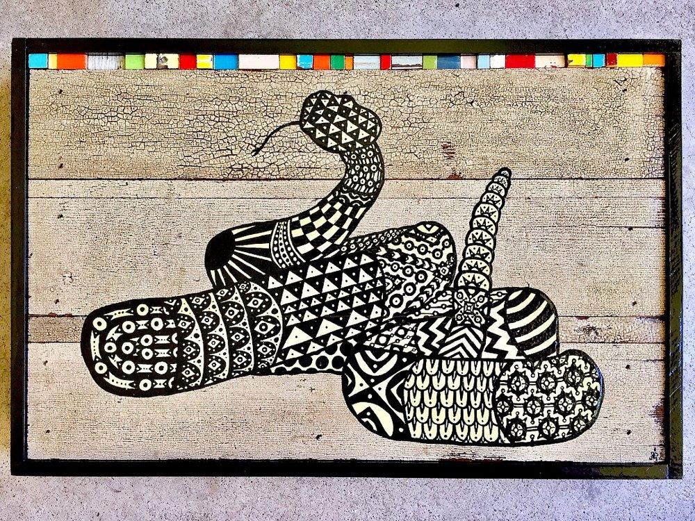 Rattlesnake. On Peyote    (Part of The Peyote Series)  Brian Phillips