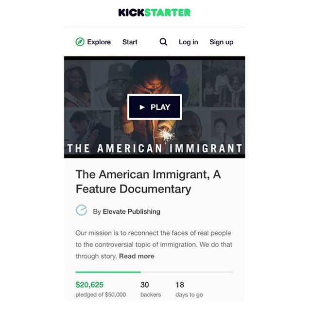 Help support our Kickstarter! (Link in Bio) Elevate Publishing has partnered with Former Democratic House Majority Leader, Dick Gephardt, to launch a powerful movement to spread positive immigrant stories. Aside from the already published book, which features three local Boise immigrants, our vision is to create a full-length documentary film around these stories in an effort to combat the current climate. But WE NEED YOUR HELP! We've launched a Kickstarter campaign to raise money for our project. If you believe in our mission and want to participate in our movement, we'd be honored if you would share our Kickstarter link via social media. THANK YOU! #theamericanimmigrant #positiveimmigration #supportrefugees #supportimmigrants #refugeeswelcome