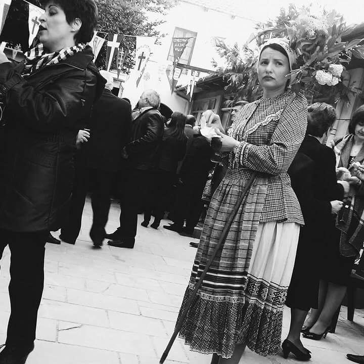 Traditional women's dress.Demi Frangos (2017)