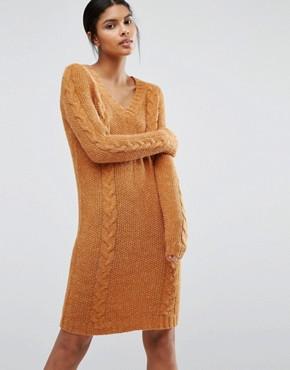SOS Vila V Neck Sweater Dress