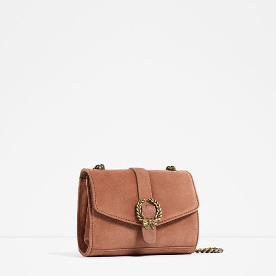 Zara Leather Crossbody with Buckle