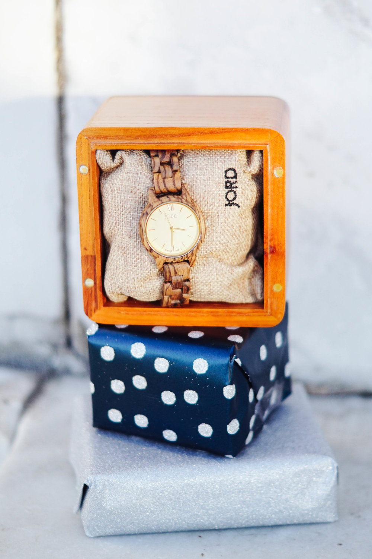 "<img src ="" JORD wood watch gift idea.jpg"" alt="" JORD Frankie zebra wood champagne"""