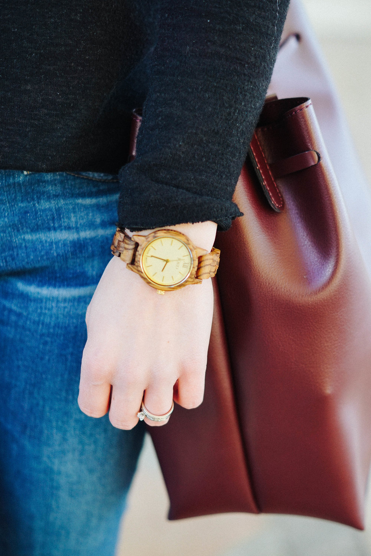 "<img src ="" JORD wood watch style idea.jpg"" alt="" JORD Frankie zebra wood champagne"""