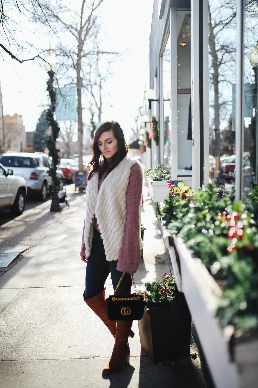 "<img src = "" bell sleeves.jpg"" alt = "" trending bell sleeves too boots bb Dakota Keith faux fur vest"">"