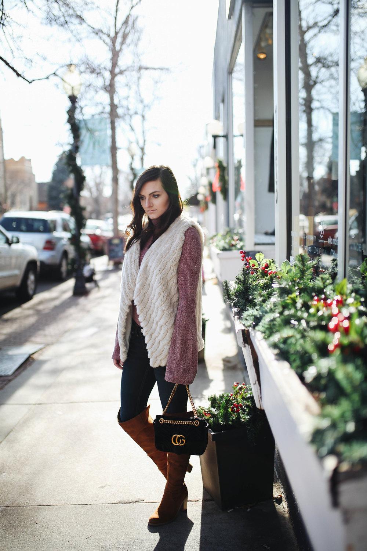 """<img src = """"bell sleeves.jpg"""" alt = trending bell sleeves otk boots bb dakota faux fur vest """">"""