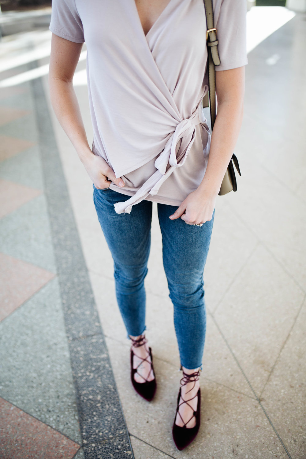 """<img src="""" valentines-day-look.jpg"""" alt = """"bp-wrap-blouse-raw-hem-skinny-jeans-valentines-day-outfit"""">"""