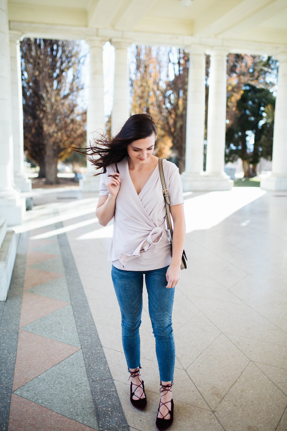 """<img src="""" valentines-day-look.jpg"""" alt = """"bp-wrap-blouse-raw-hem-jeans-velvet-lave-up-flats-valentines-day-outfit"""">"""