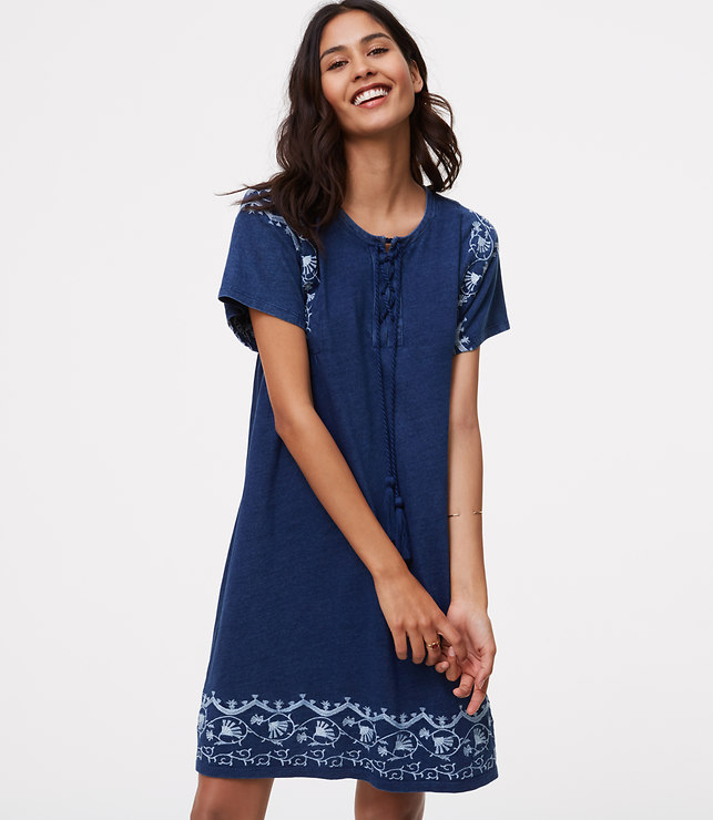 embroidered lace up swing dress.jpg