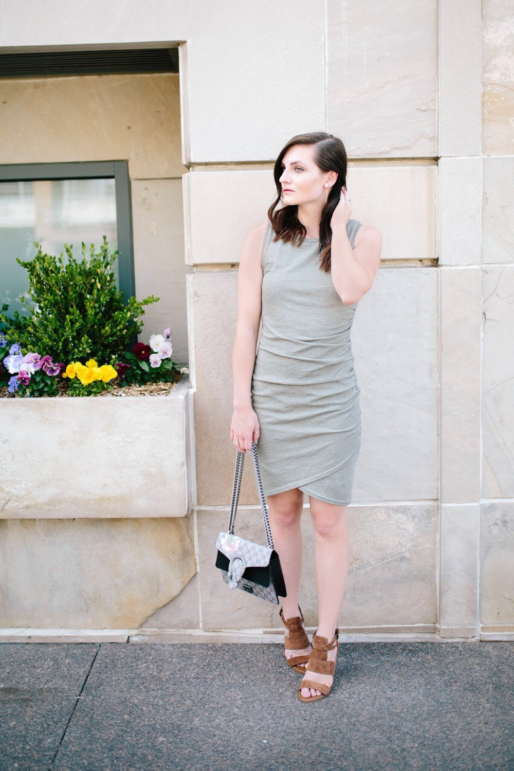 "<img src = "" two-ways-to-wear-it-bodycon-dress.jpg"" alt =""two-ways-to-wear-it-bodycon-dress-dressy-hinge-cora-block-heel-sandal-gucci-dionysus-dupe"""