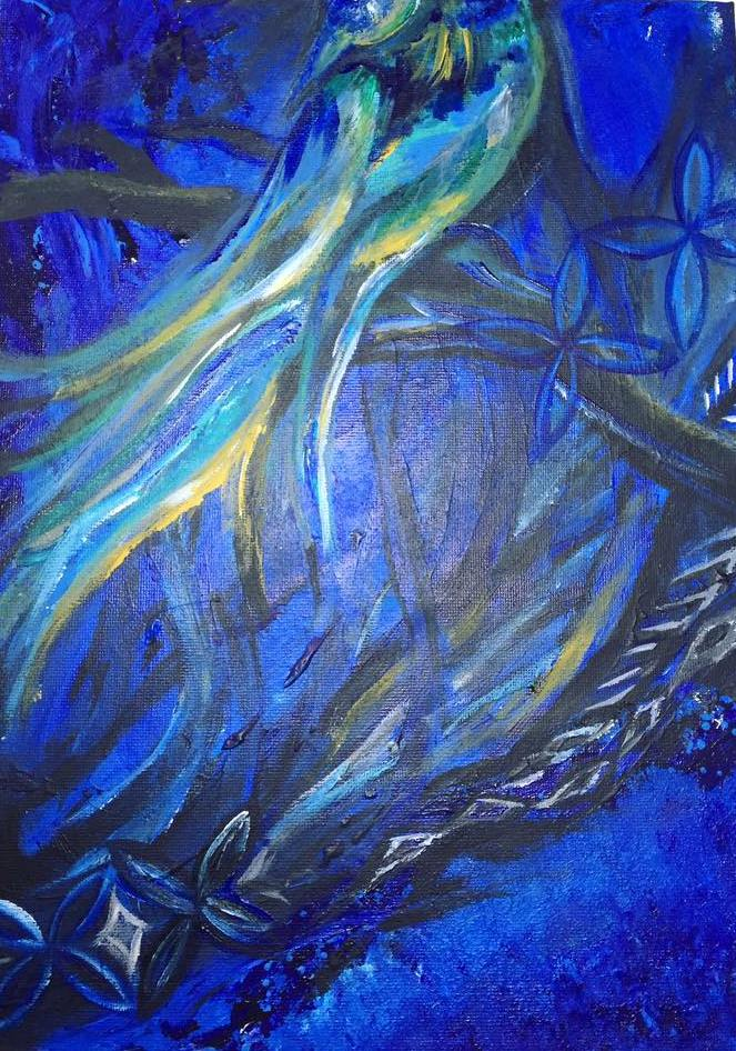 Manu Lanu Moana – Acrylic paint on canvas