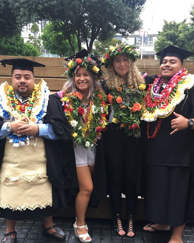 I am so proud! So proud of these beautiful Pacific Babies who graduated today with a Bachelor of Visual Arts Graphic Design and Animation!  When one of us wins WE ALL WIN! Congratulations to my beautiful Sister @raedawn_x and my fam @_tinatiller_ @djdizledits @longhairdontcare1995 YOU ARE ALL AMAZING STRONG INTELLIGENT HUMANS ❤💫🌺 #ForOurPeople #ForUs #TheNativeCollectiveNZ #Graduation #pacificpeoplespartnership  Emmaline xxx