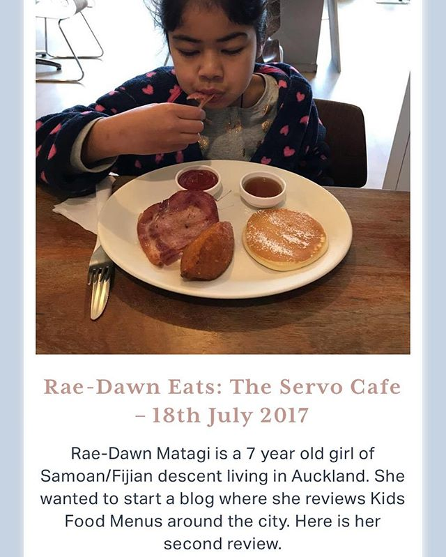 Rae-Dawn Eats is baaaaack! She's 7, Samoan/Fijian and reviewing all the yum places she gets to eat! Link in bio for her latest one fam 😊  Vinaka  #ForOurPeople #ForUs #Pasifika #TheNativeCollectiveNZ #PasifikaKids #Reviewer