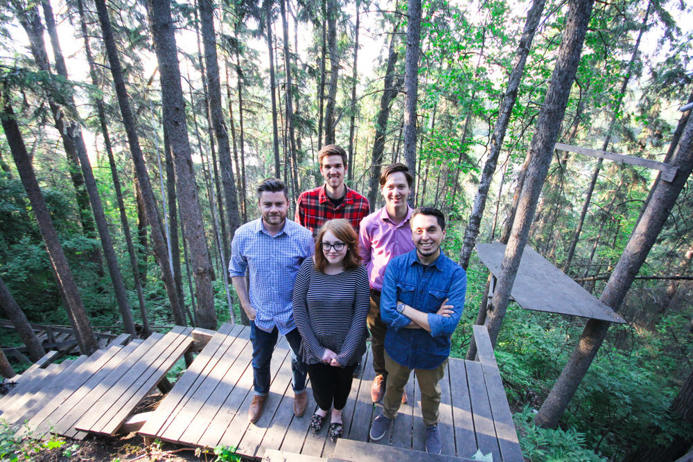 Northern Sessions Team - Nathan Beck, Pablo Herrera, Daelan Wood, Naomi Brierley, Jordan Beaubien, and Lindsey Locke