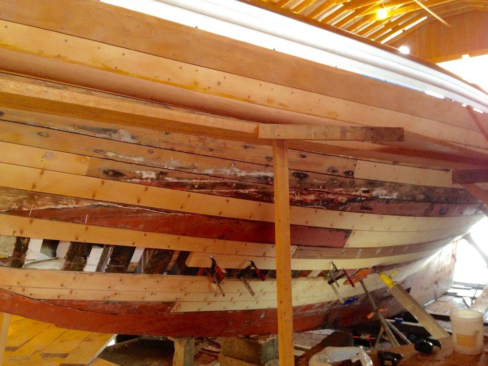 Abernethy & Gaudin BoatBuilders - hull rebuild