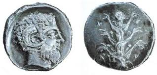 Another coin showing silphium.